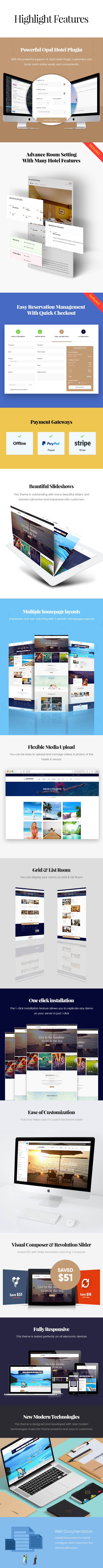 Paradise - Hotel & Resort Responsive WordPress Theme