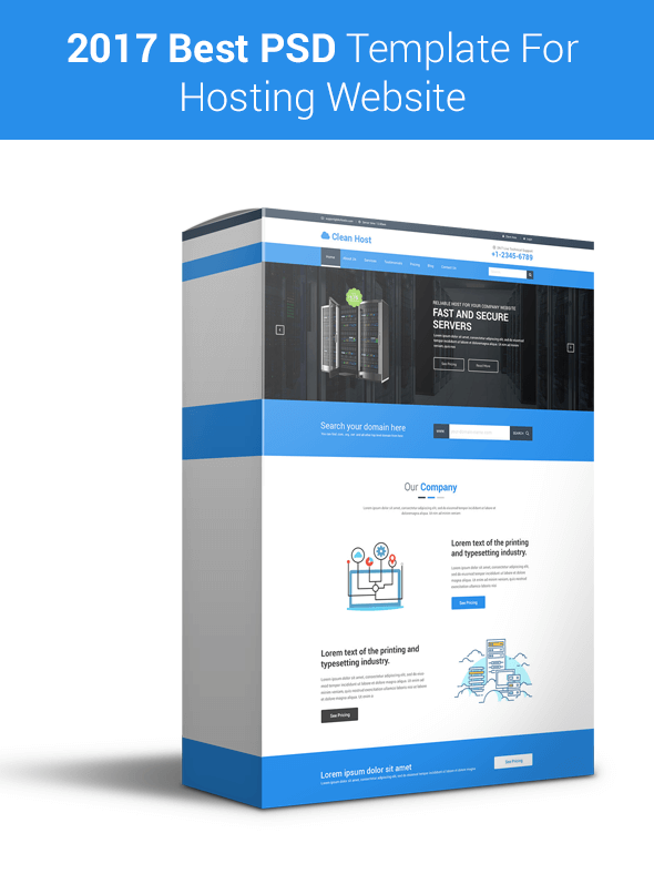 Clean Host -  Hosting Business Site PSD Template
