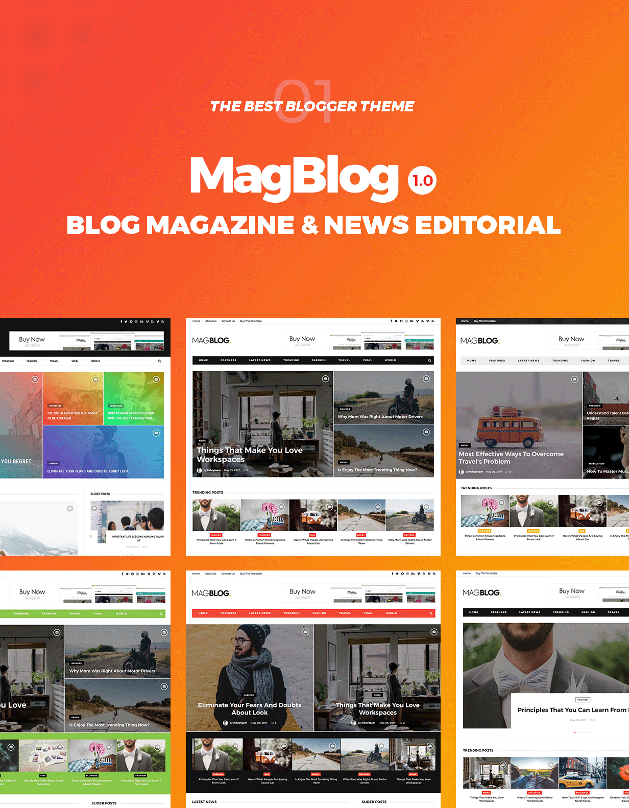 MagBlog - News & Editorial Magazine Blogger Theme