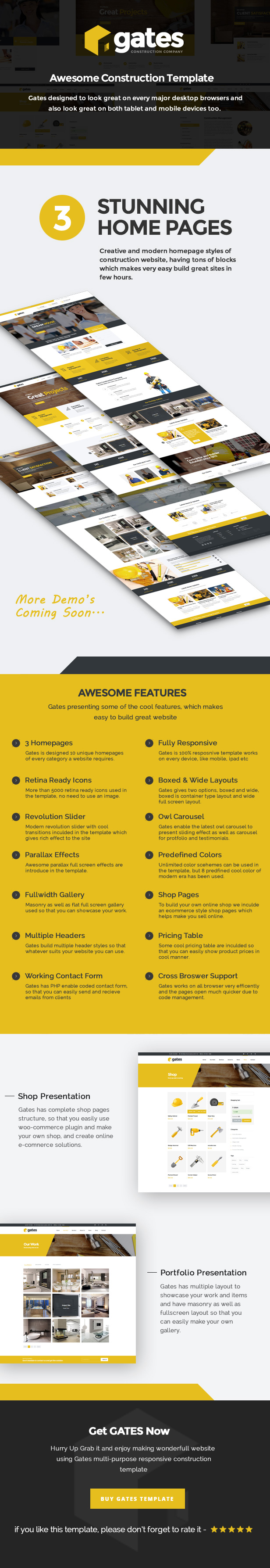 Gates - Multi-Purpose Construction Website Template