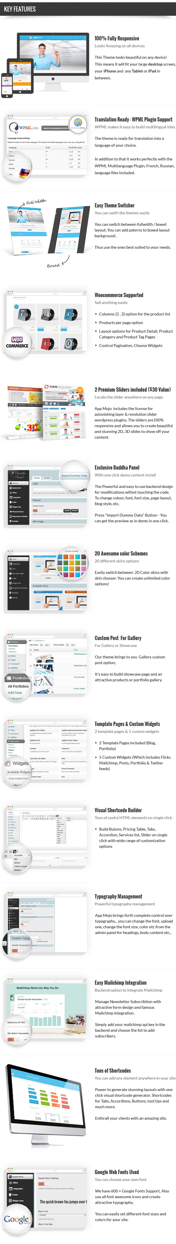 App Mojo - Single Page Software Promotion WordPress Theme