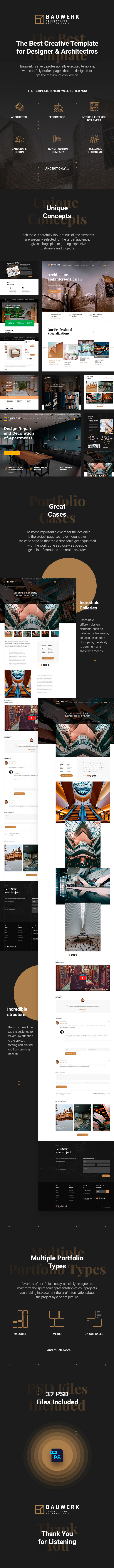 Bauwerk | Interior Design & Architecture PSD Template