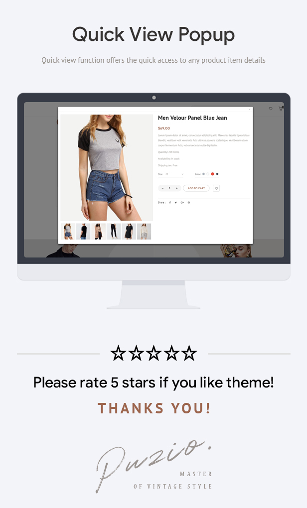 Puzio - Fashion Responsive Prestashop Theme