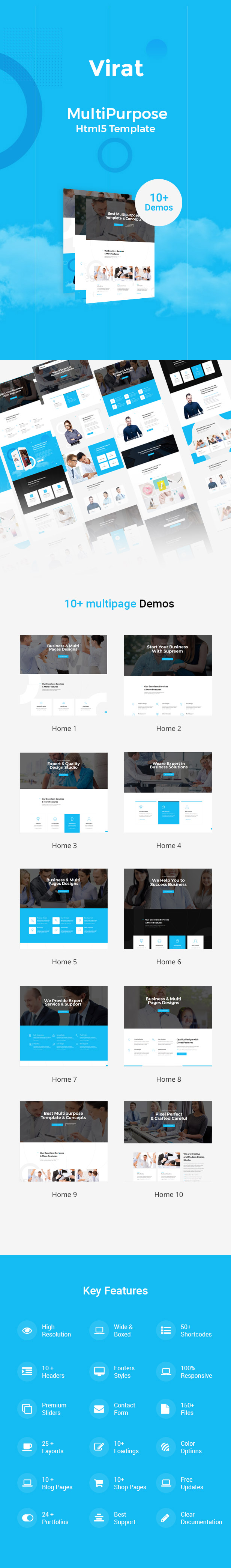 Virat- Responsive Multi-Purpose HTML5 Template