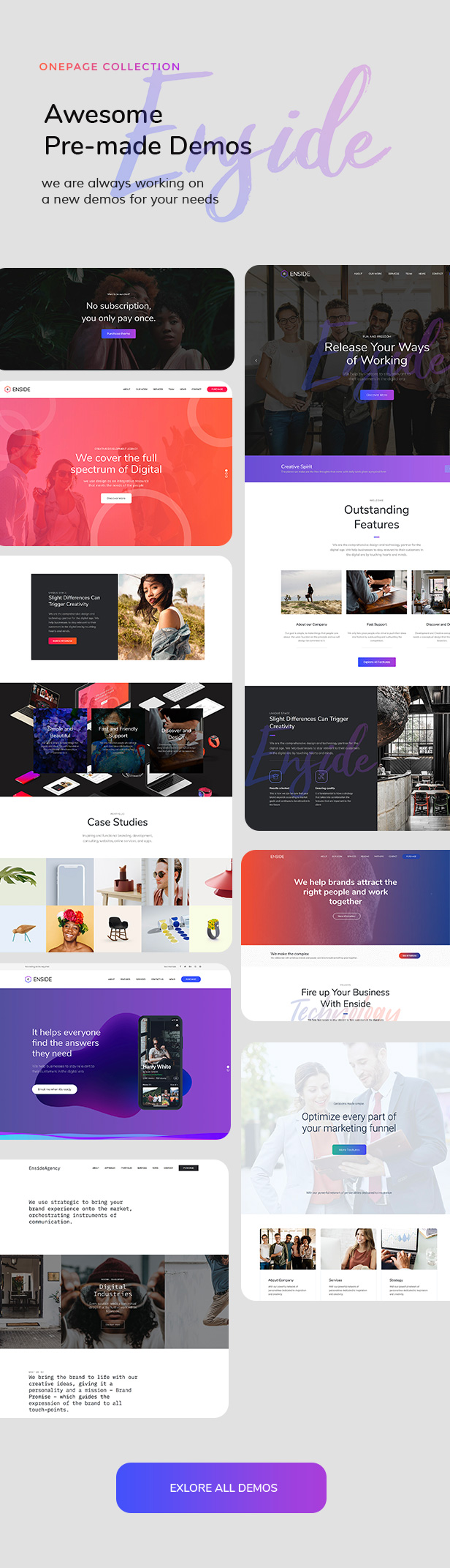 Enside - Multipurpose Onepage WordPress Theme