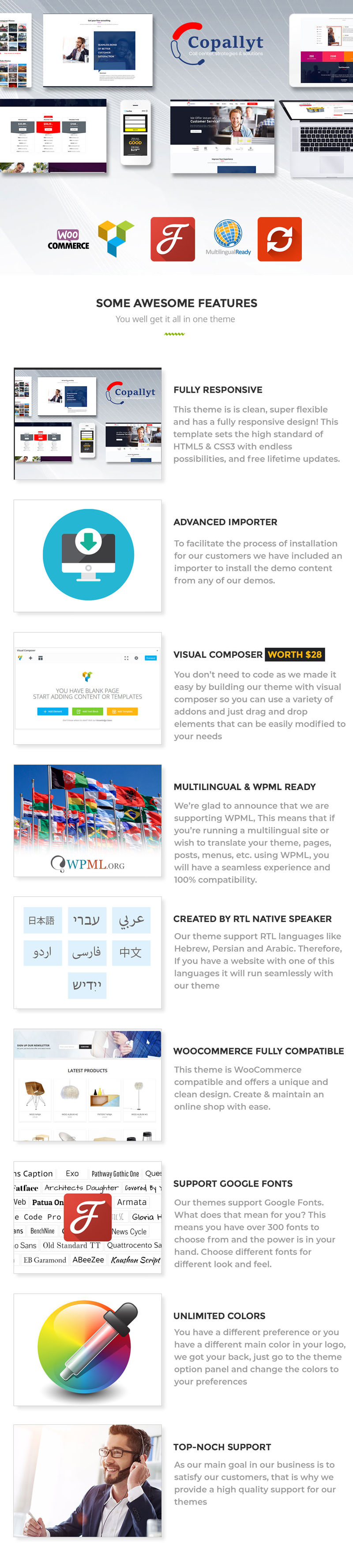 Copallyt : Call Center & Telemarketing WordPress Theme