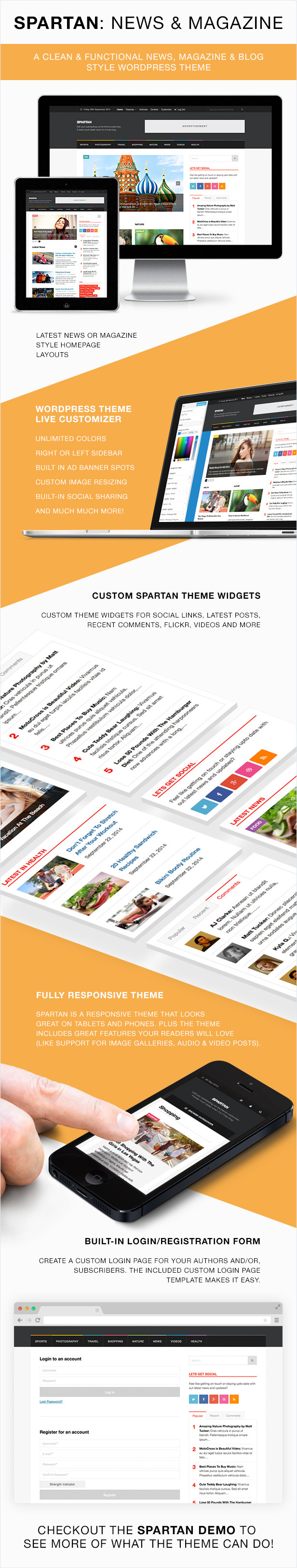 Spartan Magazine - News Blog WordPress Theme