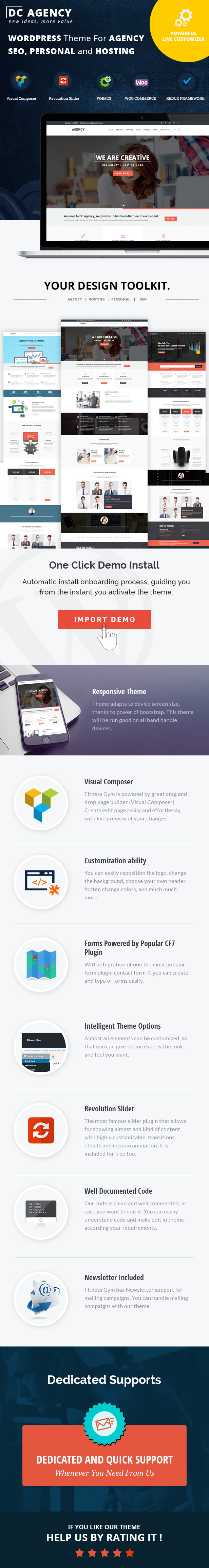 Agency Theme For Creative Agency, Hosting, SEO, Portfolio, Hosting Services, SEO and  Consultancy