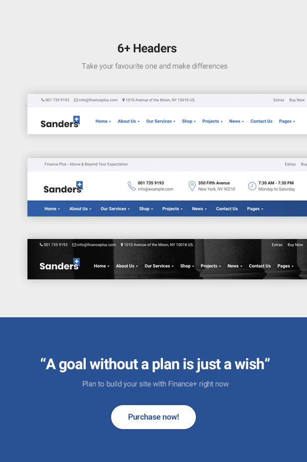 Sanders - Trusted Finance and Business Bootstrap 4 Template