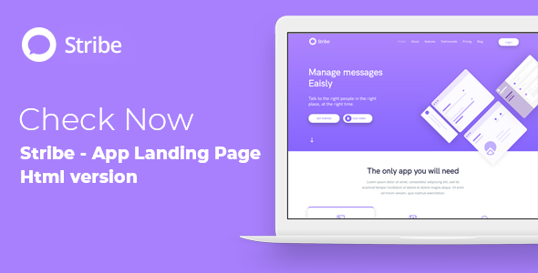 Stribe - App Landing Page WordPress Theme