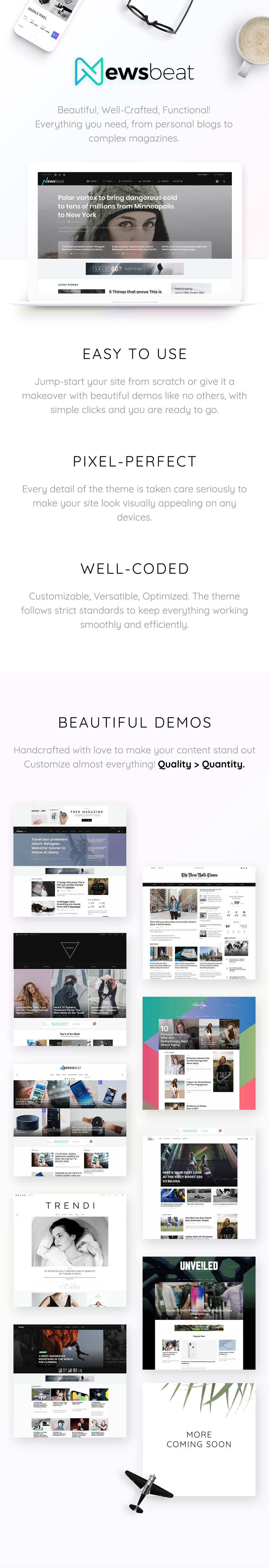 Newsbeat - Optimized WordPress Magazine theme