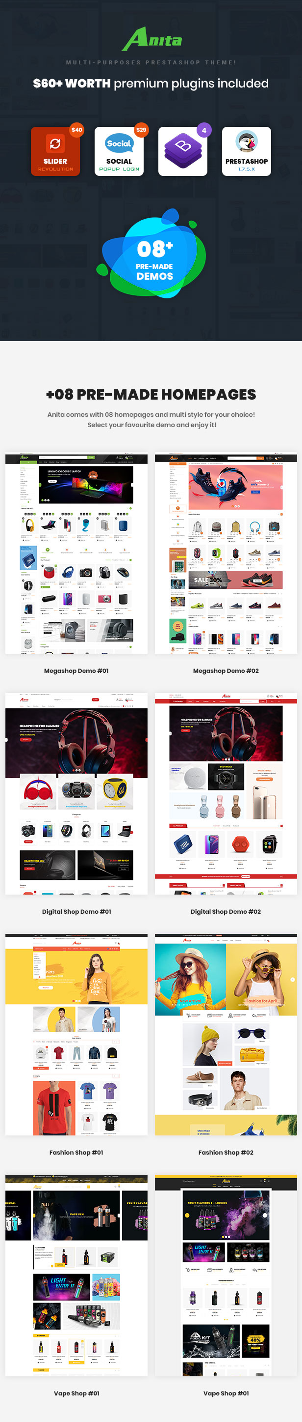 Anita - Multipurpose Prestashop 1.7 Theme