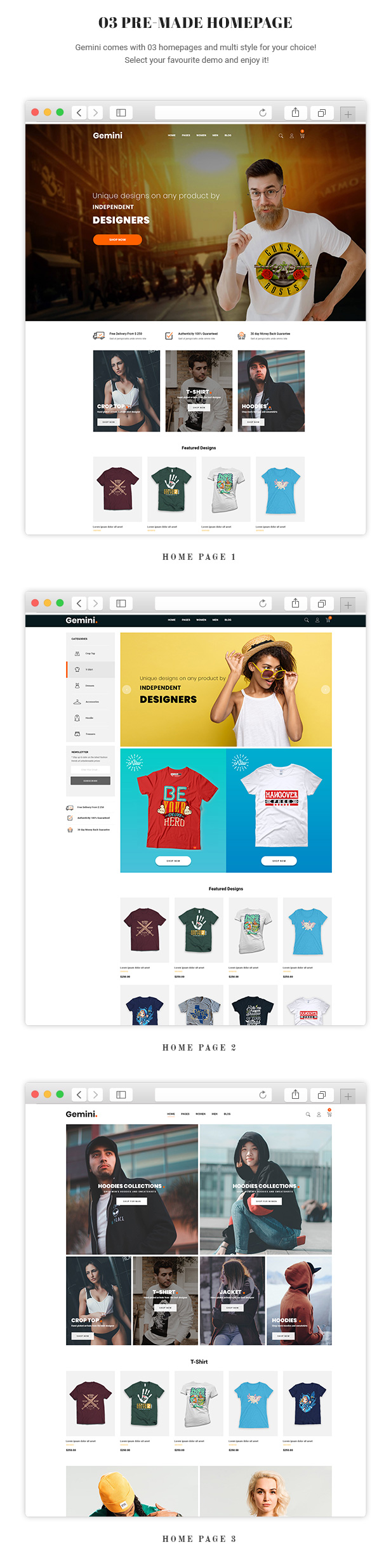 Gemini - Fashion, T Shirt & Accessories Prestashop 1.7 Theme
