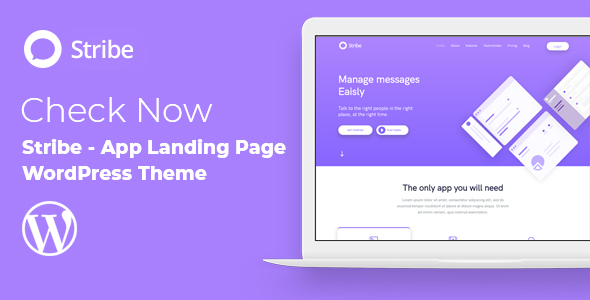 Stribe App Landing Page
