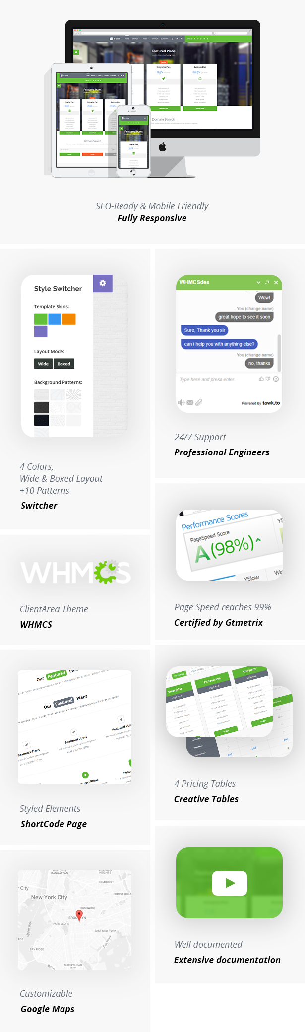X-DATA - WHMCS7 & HTML5 Powerful Web Hosting Template