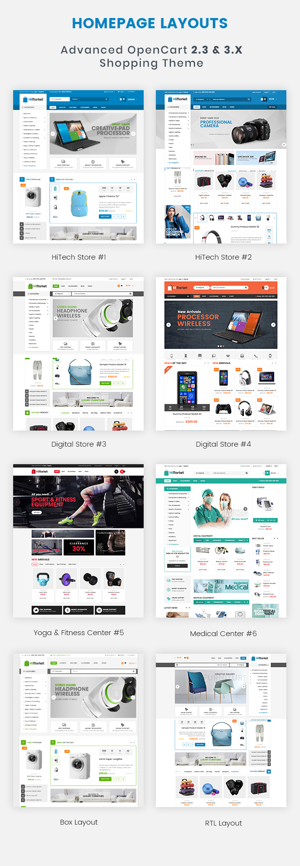 HiMarket - Drag & Drop OpenCart 2.3 & 3.x Theme With Mobile-Specific Layouts
