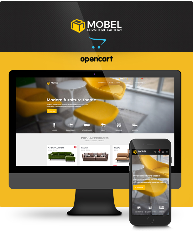 Mobel - Furniture OpenCart Theme