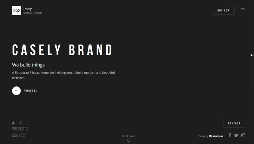 Casely - Creative Website Template for Agency, Business and Portfolio