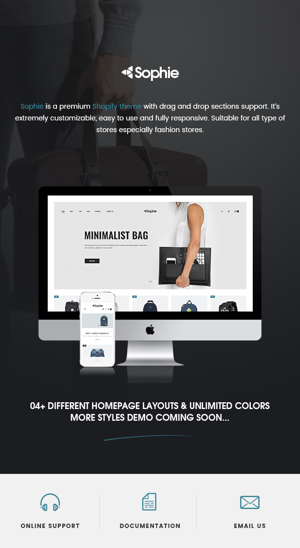 Sophie -  Responsive Clothing, Shoes, Watches, Furniture, Fashion, Electronics, Bags  Shopify Theme