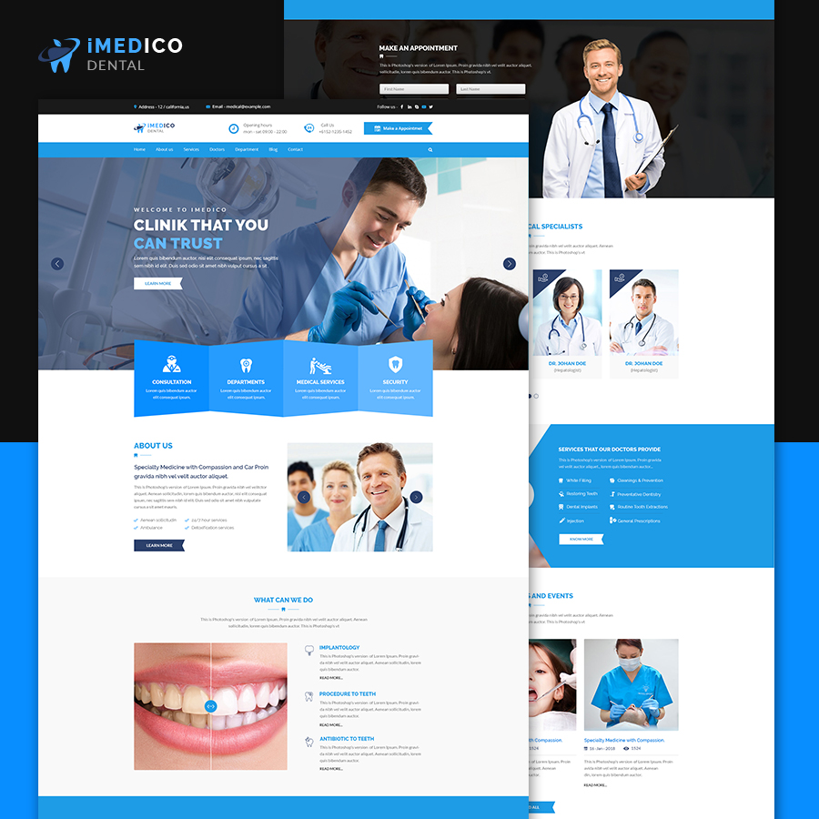 iMEDICO Hospital and Health HTML Template
