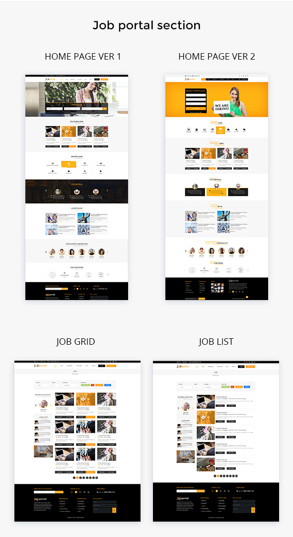 Job Portal PSD Template