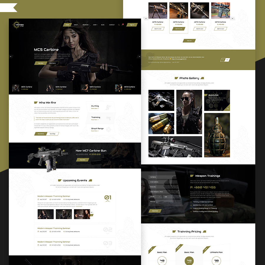 Weapon Store - Gun Shop HTML Template