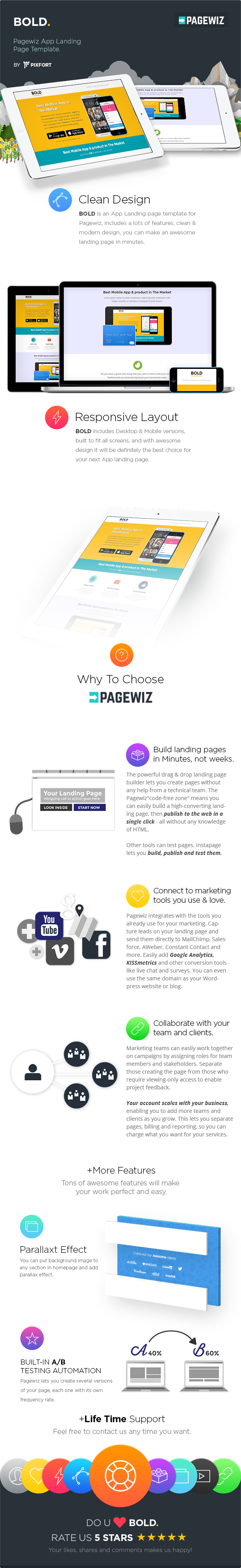 BOLD - Pagewiz App Landing Page Template