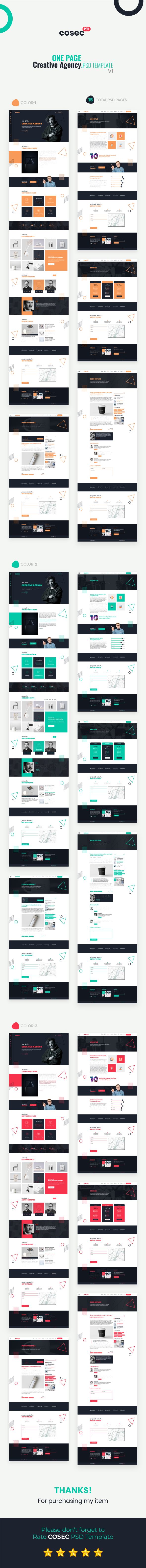 Cosec - One Page Creative Agency PSD Template