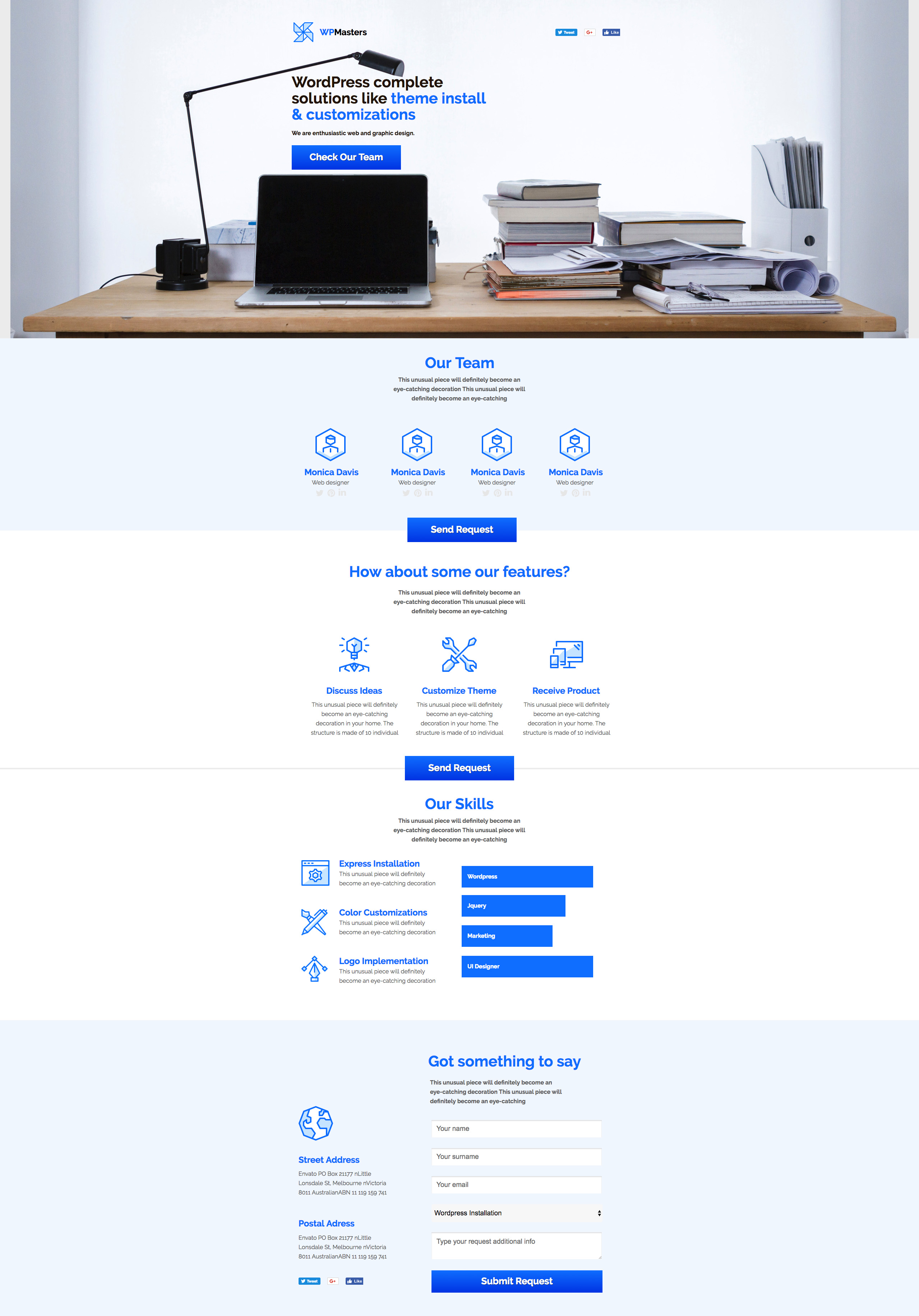 Website Masters - Niche Developers Unbounce Template