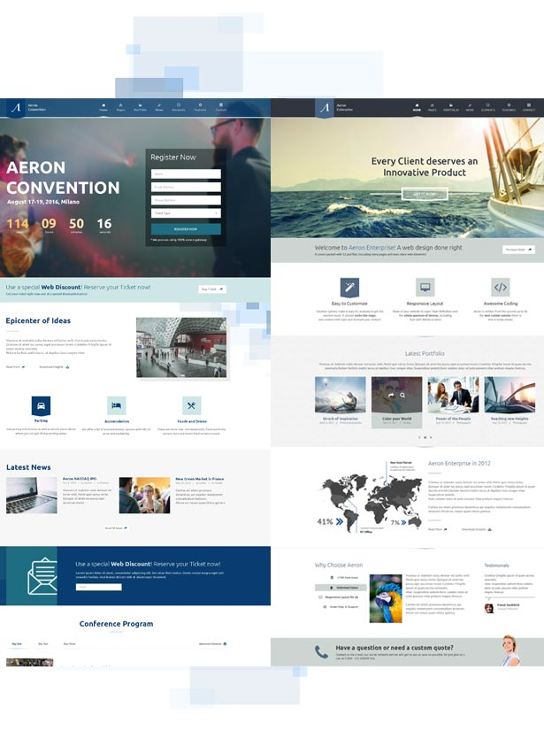 Event, Meeting, Convention & more - Aeron WordPress Theme